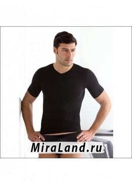 Intimidea uomo t-shirt scollo v mezza manica