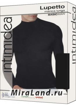 Intimidea uomo t-shirt lupetto manica lunga