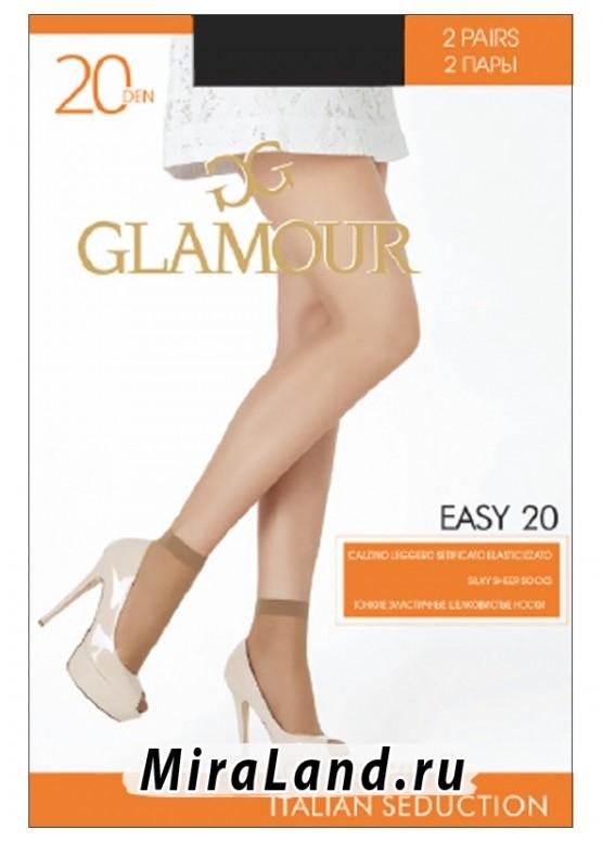 Glamour easy 20 calzino, 2 paia