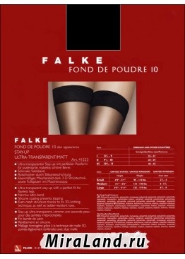 Falke art. 41523 fond de poudre 10 stay-up