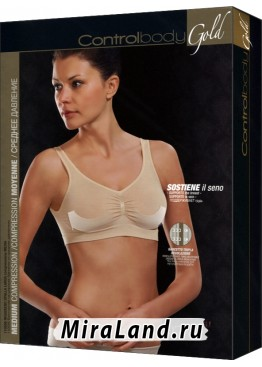 Control Body reggiseno gold