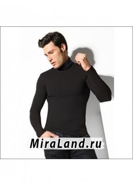 Intimidea uomo t-shirt dolcevita manica lunga